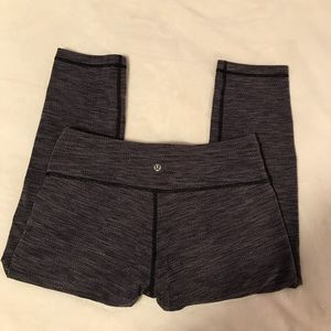 Lululemon Wonder Under Crop Leggings